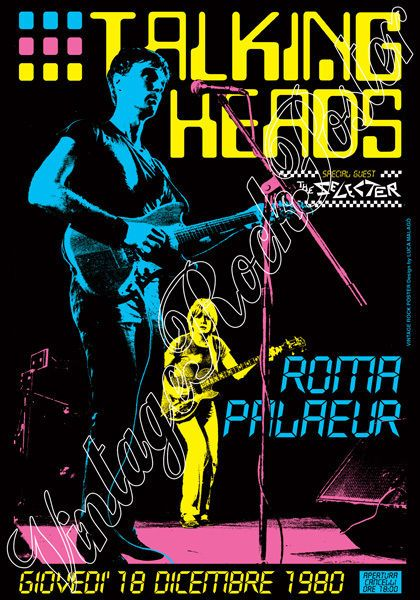 Talking Heads Concert Poster https://www.facebook.com/FromTheWaybackMachine/