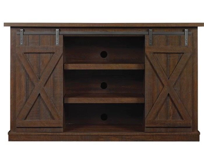 Large Rustic TV Stand Media 60 Inch Television Entertainment Centre Farmhouse  #LoonPeak #Rustic
