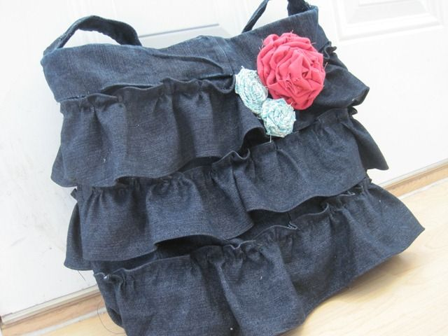 refashioned pants to purse