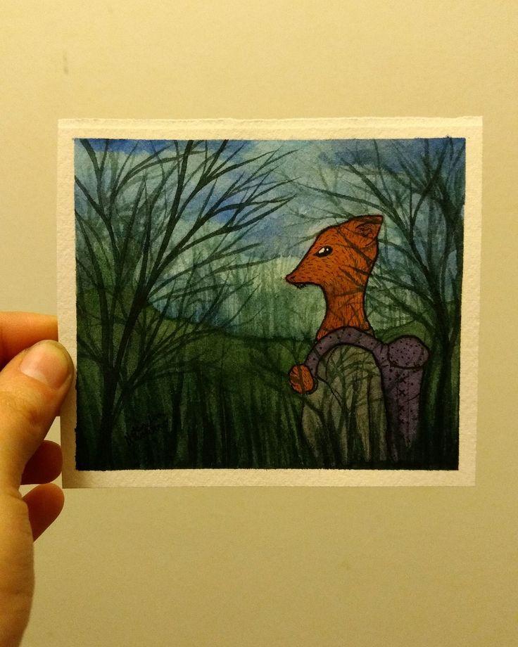 Full producción nocturna 🌙  #topopanda #illustration #ilustración #ilustracion #watercolor #acuarela #watercolorpaiting