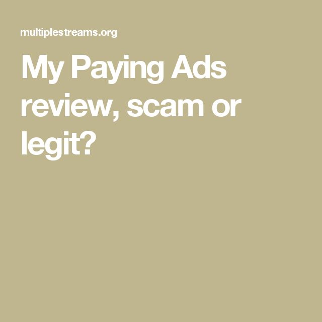 My Paying Ads review, scam or legit?