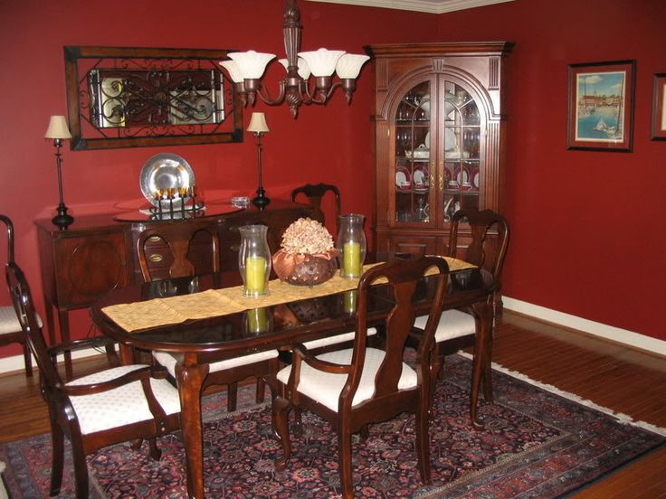 38 best images about dining room on pinterest home red for Dining room ideas with red walls