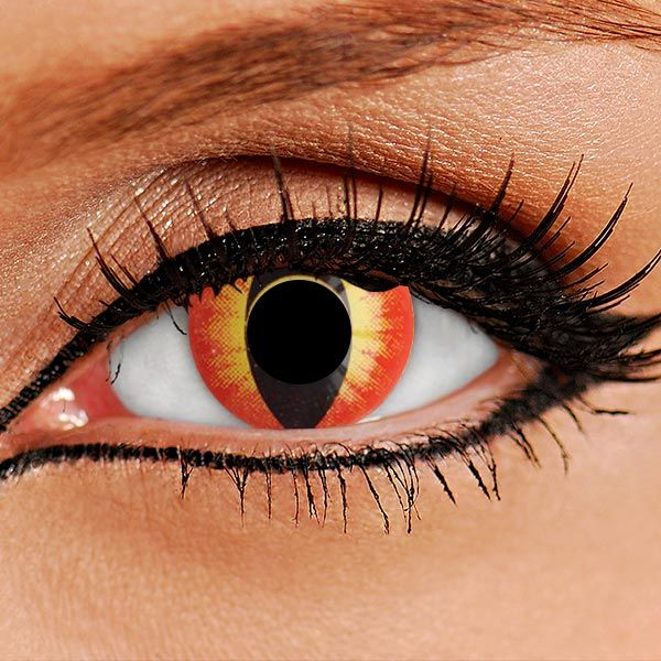 Dragon Orange Contact Lenses | Fire Cats Eye Contacts