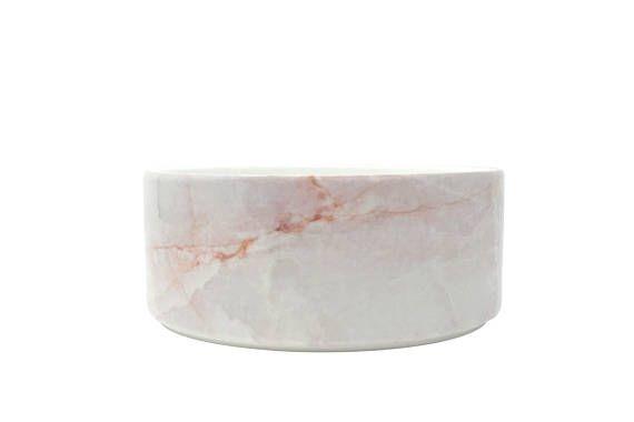 Pink Marble Ceramic Dog Bowl Modern Food Water Dish For Etsy Marble Dog Bowl Ceramic Dog Bowl Dog Bowls
