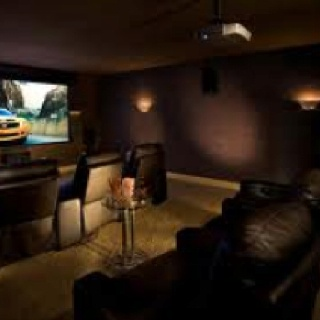 Colour scheme for home theatre room decor