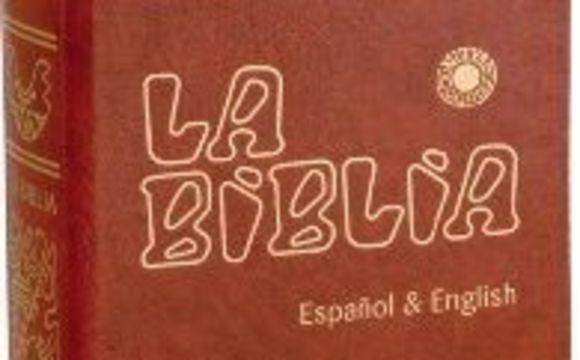 La Biblia Latinoameicana Letra Grande Ingles y Español
