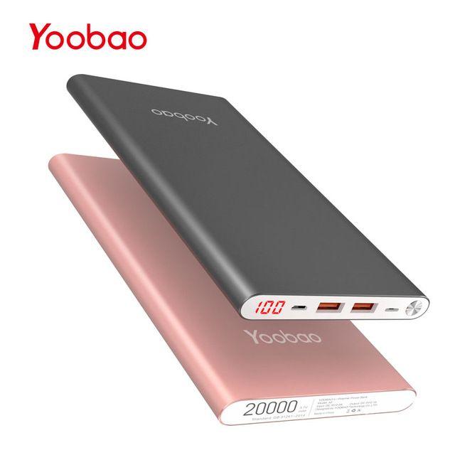 Yoobao A2 20000mAh Universal Power Bank Dual USB Output/Input Just $24 https://goo.gl/pCcgwp 👌