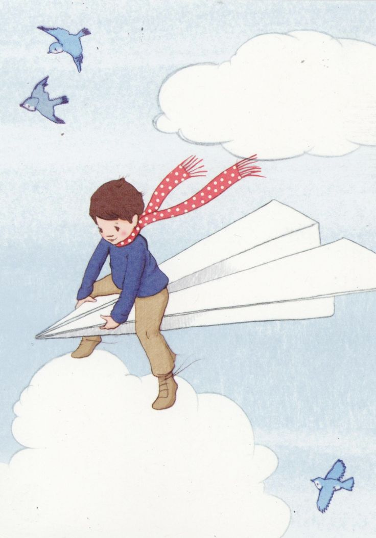 wonderful boy on paper plane :)