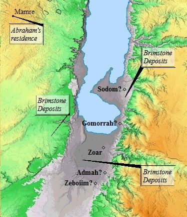 Petrified brimstones have been found south of the Dead Sea. Brimstone is said to have rained down upon Sodom and Gomorrah burning the Cities of the Plain to the ground. Some feel this brimstones  may be the very ones that fell on Sodom and Gomorrah.
