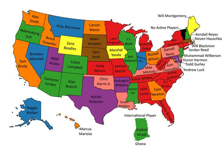 The Best Active NFL Player From Each U.S. State and Ghana