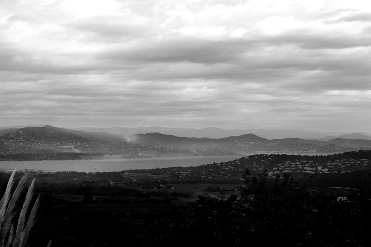Fog over Gulf de Saint Tropez