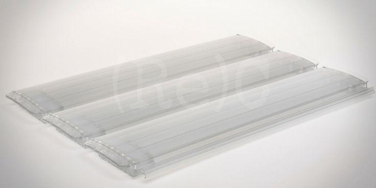 (Re)Cover® Polycarbonaat Zilver transparante TRI-extrusie zwembad lamel