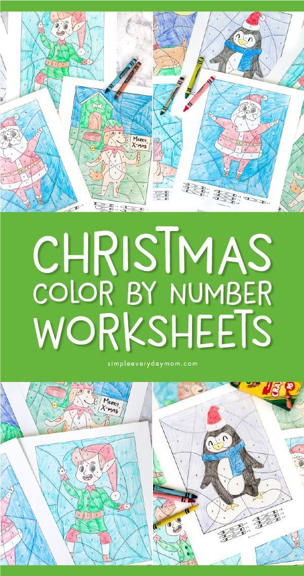 Christmas Color By Numbers For Kids