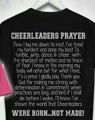 Cheerleaders Prayer