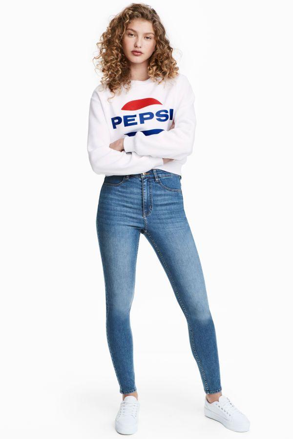 Super Skinny High Jeans Azul Denim Mujer H M Mx Pantalones De Mezclilla Mujer Moda Ropa