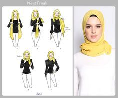 Neat Freak hijab tutorial by duckscarves. ♥ Muslimah fashion & hijab style