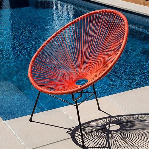Acapulco Lounge Chair Replica - Outdoor Wicker - Orange