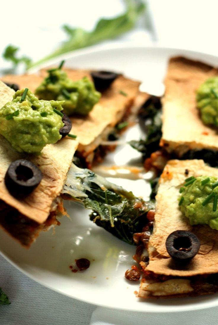 Estas quesadillas vegetarianas son fáciles de juntar para una cena exigen fácil, sana!