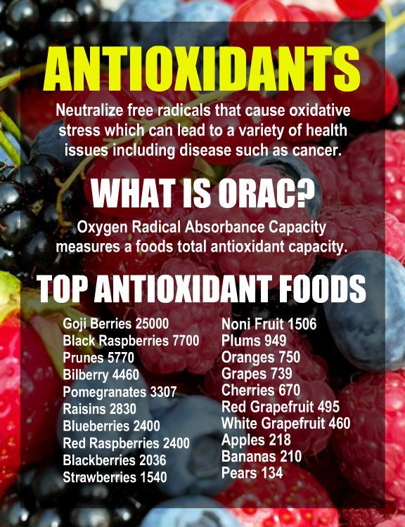 TOP ANTIOXIDANT FOODS BY ORAC VALUE: Goji Berries, Black Raspberries, Prunes, Bilberry, Pomegranates, Raisins, Blueberries, Red Raspberries, Blackberries, Strawberries, Noni Fruit, Plums, Oranges, Grapes, Cherries, Red Grapefruit, White Grapefruit, Apples, Bananas, Pears. Learn about antioxidant loaded Kangen Water; it's alkaline rich ionized water that neutralizes free radicals that cause oxidative stress which can lead to a variety of health issues. Change your water, change your life.