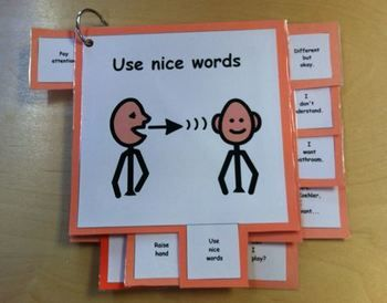 Cue Cards (large), Visual for Students with Autism or Comm - Especially the peck cards I had they used arrows and lines as a simple way of communication.