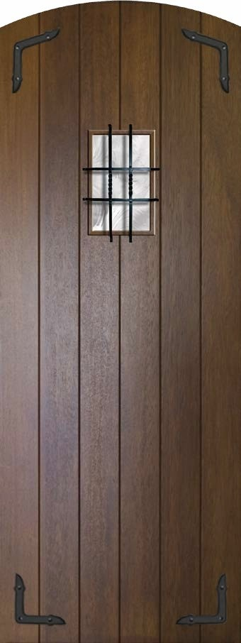 Speakeasy Pre-hung Entry Single Door 96 80 Wood Mahogany Plank Arch Top SKU# & 174 best Doors images on Pinterest | Windows and doors Patios and ... pezcame.com