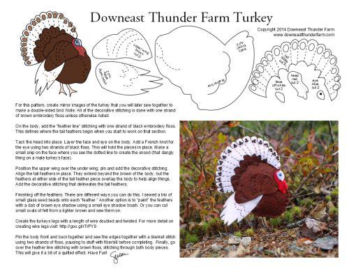 felt turkey from Susan at Downeast Thunder Farm