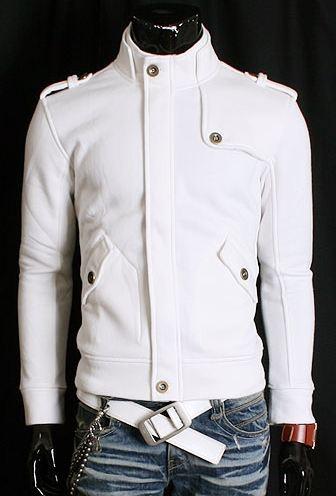 Jakke Karlito (White) - rockdenim.no - $699nok