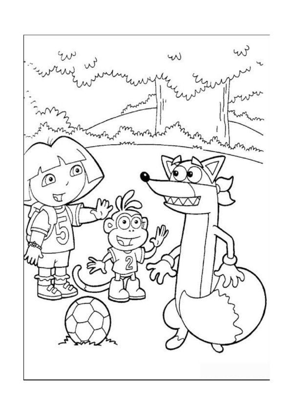 Dora Explorer Tegninger til Farvelægning. Printbare Farvelægning for børn. Tegninger til udskriv og farve nº 35