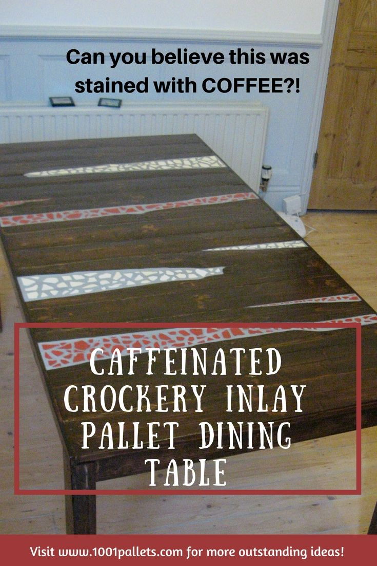 how to make a pallet dining table
