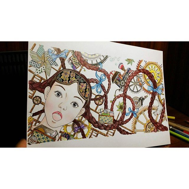 Instagram media daria486 - colored by Daeun Lee, a page from the #The Present…