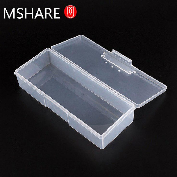 Nail Art Transparent Storage Case 1PC Plastic Nail Supplies Tools Box Rectangle Studs Brushes Tools Storage Holder Kit. Yesterday's price: US $4.85 (4.27 EUR). Today's price: US $2.33 (2.05 EUR). Discount: 52%.