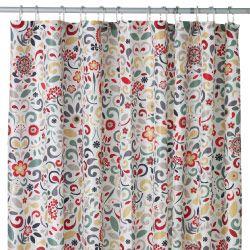 ÅKERKULLA multicoloured shower curtain