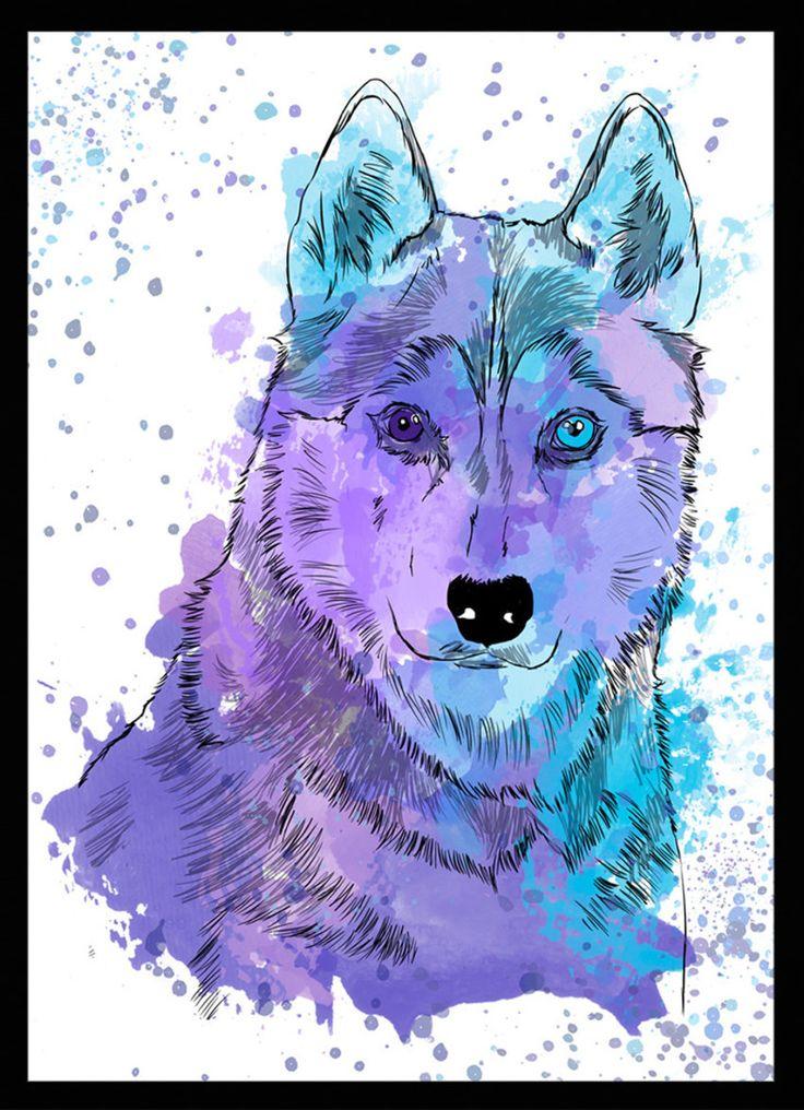 Husky Siberiano - Dog in Art