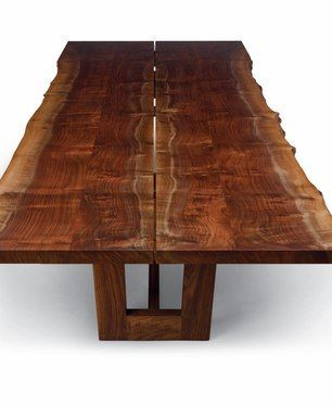 natural slab table. A top like this with a trestle base would be awesome.