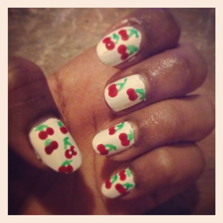 Cherry blossom nails #nails #nailart