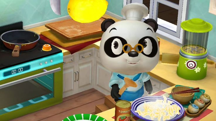 Dr Panda Restaurant 2 Learn How to Cooking & Serve and Feed Animal Guest...