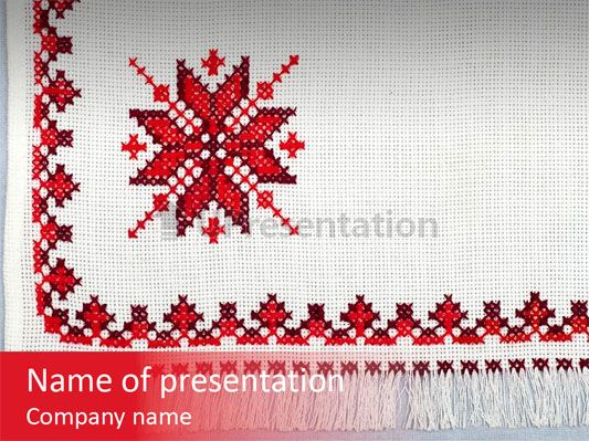 Ornament plant illustration PowerPoint Template
