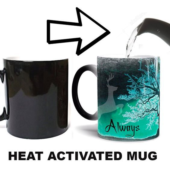 This heat-activated Harry Potter mug is utterly nostalgic and romantic. Perfect Christmas gift idea for boyfriend.