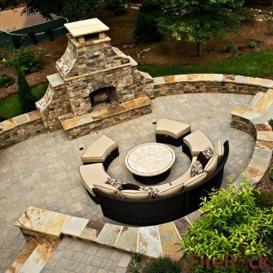 patio fireplace design pictures remodel decor and ideas page 33 - Patio Fireplace Designs