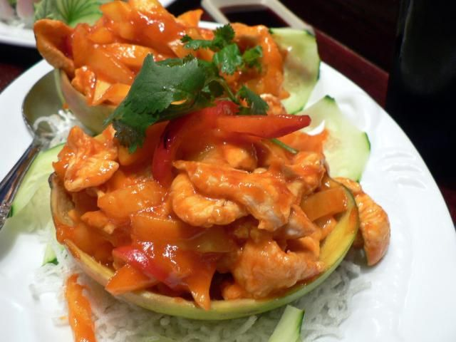 This Thai recipe for Mango Chicken is healthy and certain to please everyone's taste. The tangy mango sauce balances the pan fried chicken perfectly!