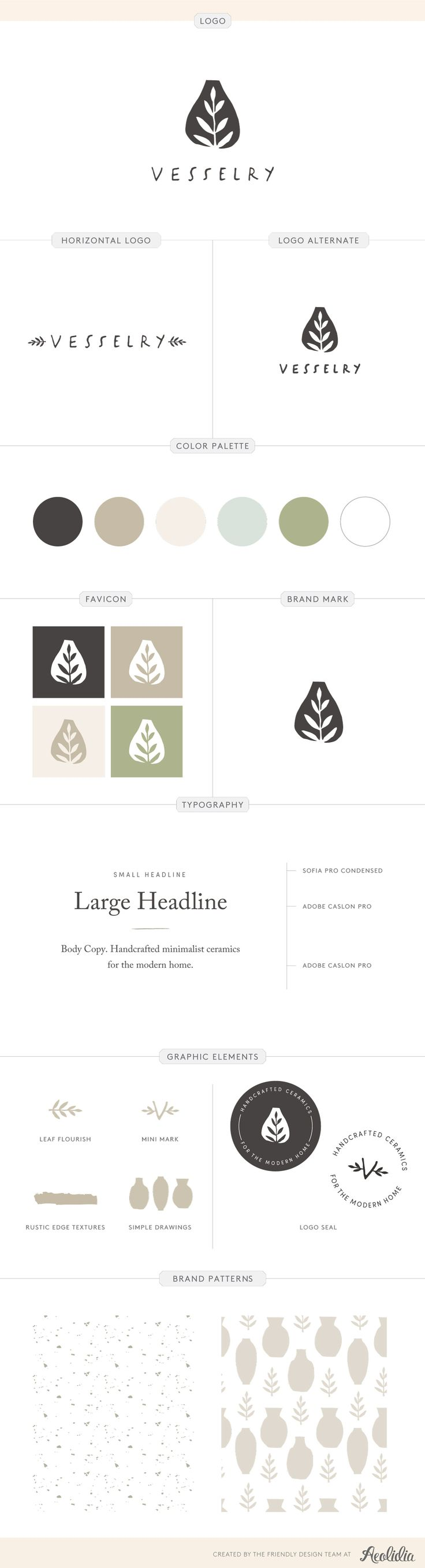 brand style guide for pottery business