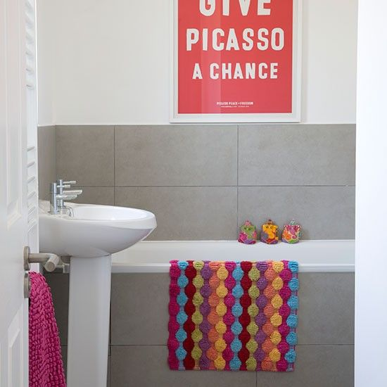 Best Bathroom Revamp Images On Pinterest Bathroom Ideas - Bright bath mat for bathroom decorating ideas