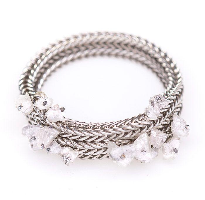 DesignBuy.cz - ZORYA prsten Crystalline s šedými diamanty