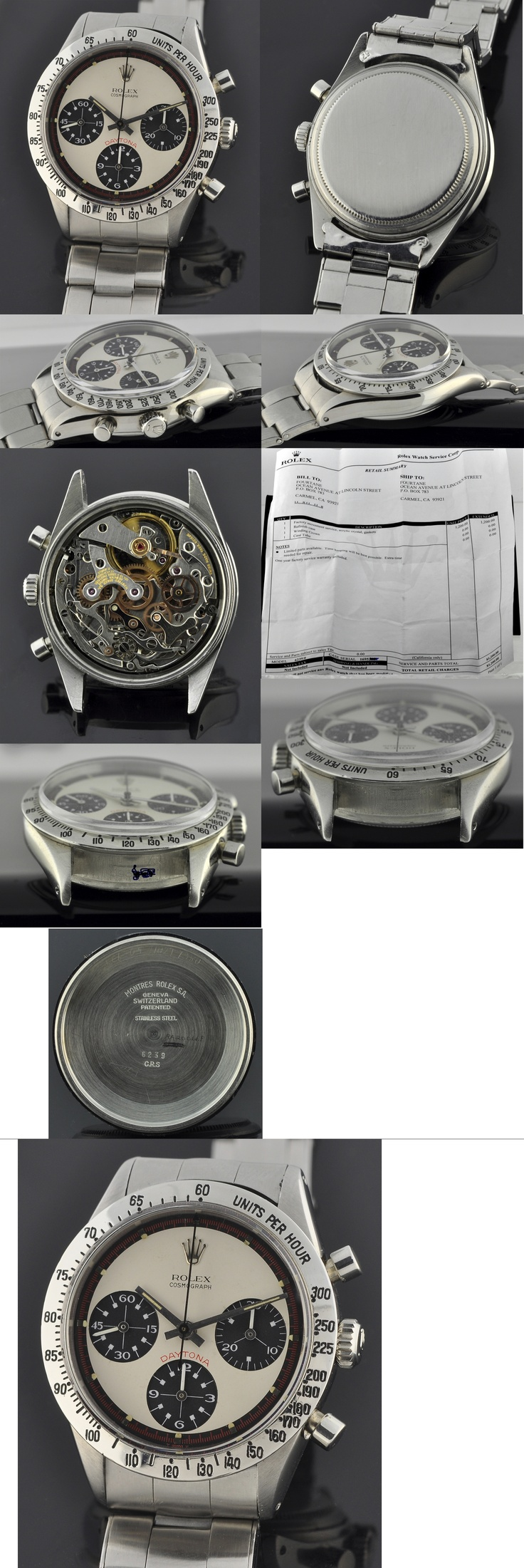 """1965 Rolex Daytona Cosmograph, with panda Paul Newman dial with white sub-registers.  There is no price given, but the statement, """"Price on Request"""", means it's a good bet that it costs more than most folks make in a year (or two, or three, or four. . . )."""