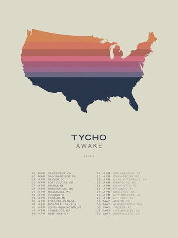 U.S. Tour Poster (Lithograph) – ISO50 / Tycho Shop
