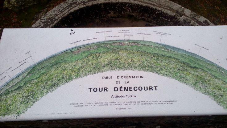 Tour Dénecourt à Fontainebleau, Île-de-France