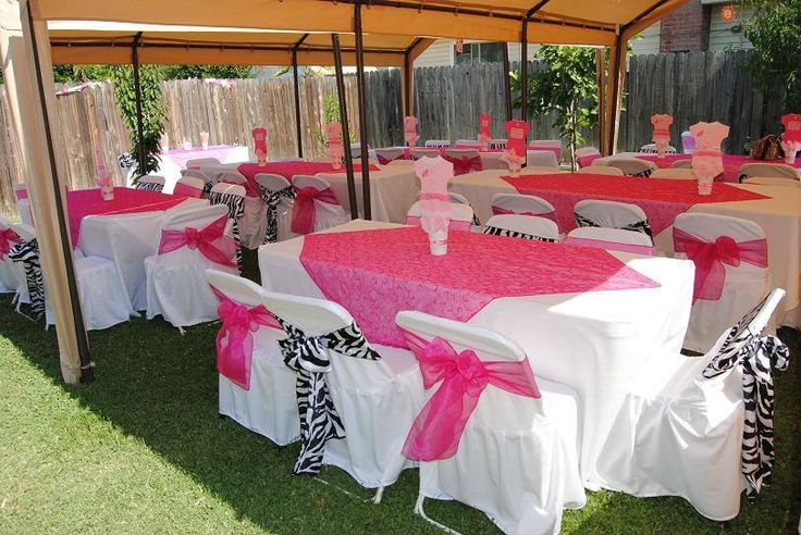 Baby shower decorations zebra print and hot pink bridal for Animal print baby shower decoration ideas