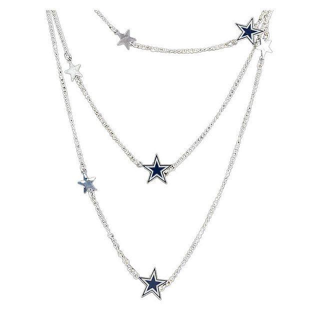 NFL Dallas Cowboys Women's Wrap Around DC Star Necklace at shop.dallascowboys.com.