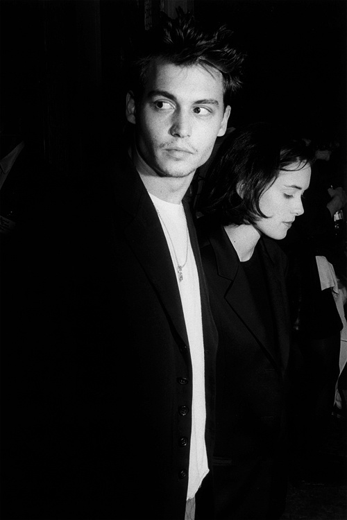 Johnny Depp and Winona Ryder, September 24, 1990