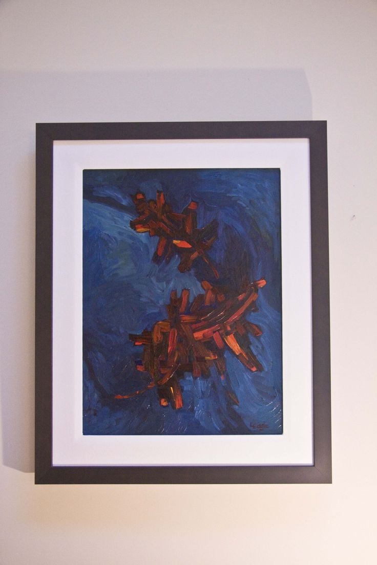 Abstract Japanese Maple Leaves Oil on canvas   - 2008 SOLD